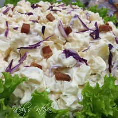 Potato Salad with Crispy Bacon and Purple Cabbage - Mely's kitchen