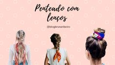 Bruna Ribeiro: CABELO: PENTEADOS COM LENÇOS Movie Posters, Hairstyles With Scarves, Different Hairstyles, Horse Tail, Hair Type, Hair Down Hairstyles, Film Posters, Billboard