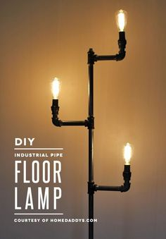 Live out your vaguely steampunk decor fantasies with this awesome industrial pipe floor lamp tutorial!: