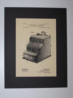 Fuller & Griswold Cash Register and Indicator 1890 Patent Drawing