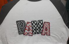 Bama Applique Raglan Sleeve Shirt - Alabama Houndstooth Roll Tide Bama Champion Raglan You Choose Fabric Football Sports Fan Shirt by BayBaysBoutique on Etsy