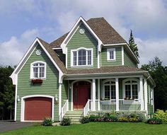 Discover the Harlow Country Farmhouse that has 3 bedrooms, 1 full bath and 1 half bath from House Plans and More. See amenities for Plan Narrow Lot House Plans, House Plans And More, Victorian House Plans, Victorian Homes, Country Front Porches, Southern Porches, Drummond House Plans, Cute House, Ideal House