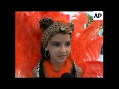 Children parade down the samba avenue as Carnival starts - YouTube