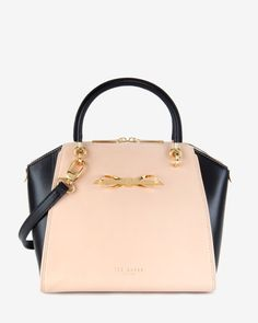 Slim bow tote bag - Taupe | Bags | Ted Baker $295