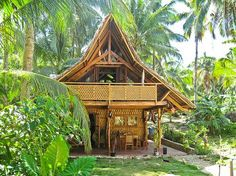 """Philippines.Siargao Island. Emerald House Village. BBC Boracay says: """" Yes, that is beautiful. Picture perfect. A cottage for your vacation eco friendly build with native materials in harmony with nature. Like Boracay 25 years ago.Check out there site for rentals..."""" www.emeraldhousevillage.com"""