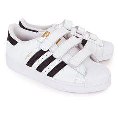 adidas superstar fondazione scarpe basse originali bianca / nero