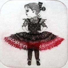 Dancer    limited edition original etching by GrazvydaArt on Etsy, $50.00