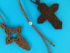 Men's Cross/Macrame Cross by MACRANI on Etsy