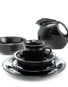 Black Fiesta ware, its beautiful!!! I need a lot more of it!!