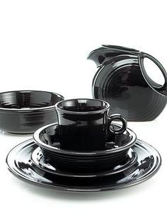 Black Fiesta ware