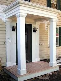 Image Result For Small Flat Roof Over Entry Front Porch Design