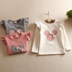 7541b734d 6.56 |Aliexpress.com: Comprar De los niños camiseta de primavera otoño 100%  algodón Minnie Mouse de algodón chico es hacer camisa de las Niñas Ropa de  manga ...
