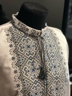 Ukraine, from Iryna Polish Embroidery, Couture Embroidery, Folk Embroidery, Cross Stitch Embroidery, Embroidery Patterns, Cross Stitch Patterns, Nifty Crafts, Mens Kurta Designs, Embroidered Clothes
