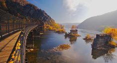 Confluence of Shanandoah and Potomac Rivers at Harpers Ferry, West Virginia