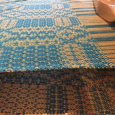 Weaving Journal Day 77: what I love about Doubleweave is how it's totally reversible #handweaversofinstagram #handweavers #handwoven #floorloomweaving #doubleweave