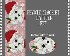 Santa dog Christmas beading pattern Peyote Bracelet Pattern Peyote Stitch Handmade gift DIY Delica pattern seed bead pattern PDF dog peyote. The pattern for Delica (size 11) beads and has 7 colors. Peyote 45  101 2.39in 6.99in 6.075cm 17.762cm The PDF file includes (7 pages) : 1.
