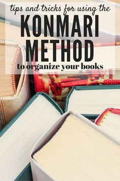 Tidying Up the KonMari Way: Books