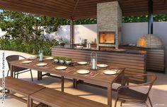 area gourmet moderna com piscina - Pesquisa Google