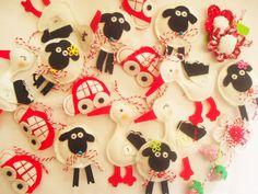 Мартеници Baba Marta, Minnie Mouse, Felt, Toys, Disney Characters, Cute, Crafts, Craft Ideas, Craft