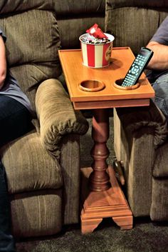The perfect end table, side table or home theater table with built in holders so you spill less and drink more.