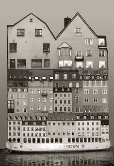 Large scale architectural collages by Anastasia Savinova. Each collage is meant… Collage Artists, Collages, Photomontage, Anastasia, Collage Architecture, Photo D'architecture, Genius Loci, Architectural Section, Architectural Drawings