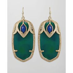Kendra Scott Darby Peacock Earrings ❤ liked on Polyvore