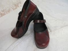 DANSKO MARAH BABY JANE LEATHER Wine Size 38