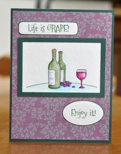 I Spy YNS Saturday - Your Next Stamp - Life is Grape | Stitched Rectangles #yournextstamp
