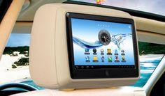 "Nakkestøtte med en udtagelig Android 4.0 tablet med 9"" touchskærm, plus AV-indgang til DVD og DVB-TV signal fra autoradio i bilen, osv. Besøg www.tabletcafe.dk"