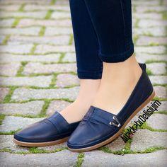 52e5b917 Lacivert Babet #flat #shoes #blue Zapatos Vans, Zapatos De Tacones, Zapatos