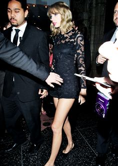 Taylor Swift leaving the VMA after party