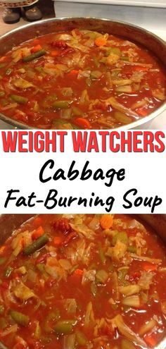 Best Weight Watchers Soup Recipes with Smartpoints - Easy WW Freestyle. Looking for the best Weight Watchers Soup Recipes with Points? I've got an amazing collection of delicious and healthy WW Freestyle soup recipes. Cabbage Fat Burning Soup, Cabbage Soup Diet, Cabbage Soup Recipes, Weight Watchers Cabbage Soup Recipe, Shredded Cabbage Recipes, Weight Loss Vegetable Soup Recipe, Cabbage Stew, Fat Burning Diet, Potato Recipes