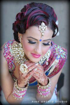 Bridal Make-up  more inspiration @ http://www.ModernRani.com