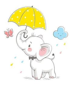 Find Cute Elephant Umbrella Cartoon Hand Drawn stock images in HD and millions of other royalty-free stock photos, illustrations and vectors in the Shutterstock collection. Baby Elephant Drawing, Baby Animal Drawings, Cartoon Elephant, Elephant Love, Cute Drawings Of Animals, Cute Baby Drawings, Elephant Nursery Art, Indian Elephant, Painting For Kids