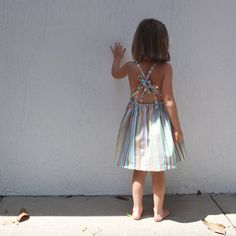 candy stripe pennie dress from the crafted co