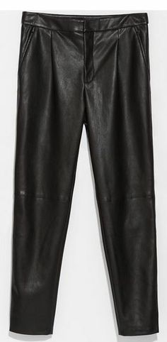 Zara - Fake Leather Pants