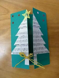 Read more about Homemade Christmas Card Ideas Christmas Card Crafts, Homemade Christmas Cards, Christmas Tree Cards, Christmas Activities, Christmas Art, Homemade Cards, Handmade Christmas, Holiday Crafts, Christmas Decorations