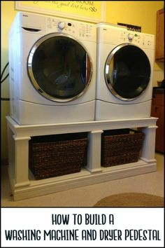 A Washer And Dryer Pedestal Creates Storage Space And Brings The Machines to a More Ergonomic Height