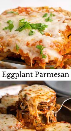 Vegetarian Recipes, Cooking Recipes, Eggplant Parmesan, Cheesy Recipes, Eggplant Recipes, Vegetable Dishes, Quick Easy Meals, Thanksgiving Recipes, Soul Food