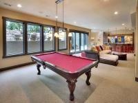 Aspen Ridge I Basement Pool Table Family Room and Bar Area Entertaining Space