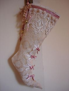 No instructions for this pretty stocking, but lots of ideas for stocking stuffers.