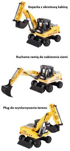 W zestawie Roboty budowlane znajduje się koparka i dodatkowe akcesoria, jak narzędzia budowlane, wózek paletowy i tajemniczy #skarb. Łącznie to 350 klocków i 3 figurki pracowników budowlanych.  Niesamowita #zabawa gwarantowana. Przekonaj się! Zestaw z koparką dostępny na http://cobi.pl/zabawki/klocki/action-town/roboty-budowlane,art,7978.html #ActionTown #Cobi #storytelling