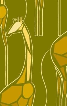 California Cutpaper Giraffes Wallpaper in Gold - Kreme on Joss and Main take a construction paper journey into the wilds. Modern Wallpaper Designs, Contemporary Wallpaper, Designer Wallpaper, Yellow Home Accessories, Yellow Home Decor, Giraffe Pattern, Wallpaper Samples, Burke Decor, Shape Design