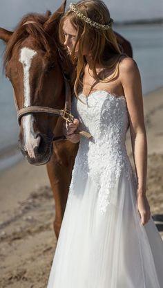 Classic Christos Costarellos wedding dresses