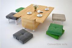 Multifunctional furniture: convertible sofa by Julia Kononenko #sofa, #Ukraine