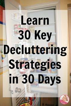 Learn 30k decluttering strategies in 30 days