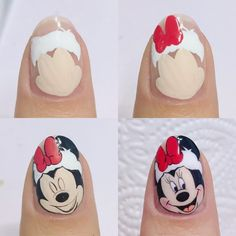 VK is the largest European social network with more than 100 million active users. Nail Art Minnie, Mickey Nails, Minnie Mouse Nails, Xmas Nail Art, Xmas Nails, Christmas Nail Art Designs, Halloween Nail Designs, Holiday Nails, Nail Art Modele