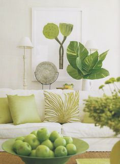41 super Ideas for living room green accents decor furniture Living Room Green, Green Rooms, Living Room Decor, Living Area, Dining Room, Home Theaters, Estilo Tropical, Tropical Decor, Tropical Style