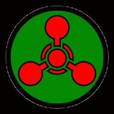 Science Laboratory Safety Signs: Chemical Weapon Symbol