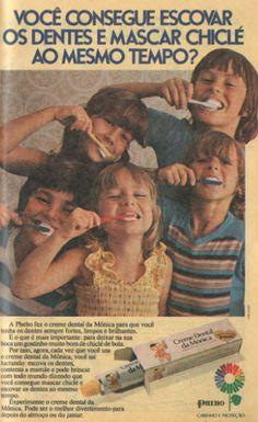 Creme Dental Turma da Mônica Phebo (1976).